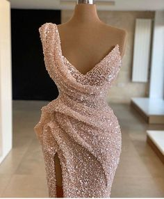 Feb 2020 - Sparkle One shoulder Sleeveless Sequined Mermaid Prom Dress Prom Outfits, Mode Outfits, Dress Outfits, Dress Up, Bar Outfits, Vegas Outfits, Woman Outfits, Club Outfits, Bodycon Dress