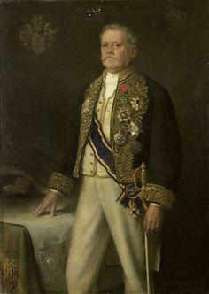 Portret van Carel Herman Aart van der Wijck (1840-1914). Gouverneur-generaal (1893-99).  Onderdeel van een reeks van portretten van de gouverneurs-generaal van het voormalige Nederlands Oost-Indië. 1900