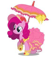 Pinkie Pie by ~ErikaDaniel98 on deviantART She looks like Rarity in that dress! <3