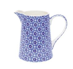 Stoneware Jug in the pretty blue Fay design  I litre Jug - gorgeous as a water jug on the table, for serving lemonade or iced tea or on a shelf on a kitchen dresser.