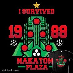 I Survived the Nakatomi Plaza | Shirtoid #diehard #film #jrberger #movies