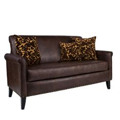 @Overstock - This angelo:HOME Harlow sofa was designed by Angelo Surmelis, combining modern lines with traditional details. The Harlow sofa has a slightly rounded arm and is covered in a beautiful coffee brown renu leather fabric.http://www.overstock.com/Home-Garden/angelo-HOME-Harlow-Coffee-Brown-Renu-Leather-Sofa/5324110/product.html?CID=214117 $524.99
