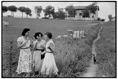 Henri Cartier-Bresson - ITALY. In the surroundings of Rome. 1952.