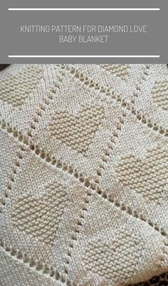 et crochet couverture Diamond Love Baby Blanket - Knitting Pattern Crochet Round, Half Double Crochet, Single Crochet, Easy Crochet, Crochet Hooks, Treble Crochet Stitch, Crochet Stitches, Knitted Baby Blankets, Yarn Over