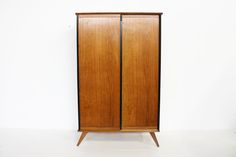 French 1950 oak Wardrobe manner of Marcel Gascoin or Pierre Guariche furniture. Midcentury and modern.  http://www.galerie44.com/fr/collection/mobilier/armoire-chene-massif-vintage-detail