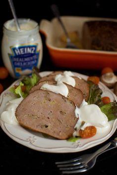 Pastel de pavo asado con setas y manzanas, receta de Navidad con mayonesa Heinz Realmente Deliciosa