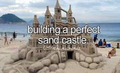 Oh my goodness. I thought a 'perfect' sand castle was making a little hill. I can't even imagine how long it'll take to make the sand castle in this picture!