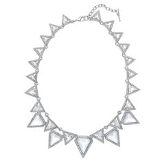 Glacial Edge Statement Necklace. Chloe + Isabel - affordable, hypoallergenic, timeless and fashionable jewelry. #chloeandisabel