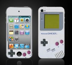 Retro Game Boy - Apple iPod Touch 4 4th Gen Vinyl Decal Wrap Skin Sticker Cover - NOT a HARD CASE- Free Shipping