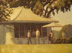 Refreshments, Rodgers Naylor, Art size: 40 x 30 Frame size: 46 x 36 - $3800.00