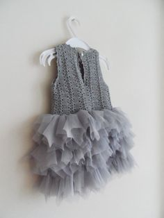 Baby Girl Tutu Dress. Tulle Dress with Stretch by AylinkaShop