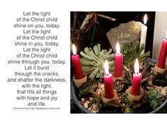 Let the Light of the Christ Child Shine Today
