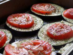 Eggplant Parmigiana. For Daniel Fast skip  bread crumb topping and mozzarella cheese.
