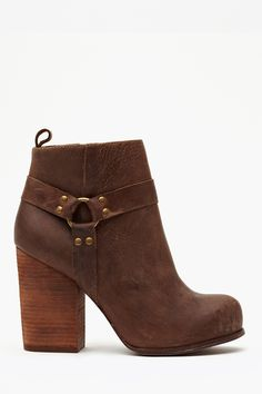 Nasty Gal x Jeffrey Campbell Rum Moto Boot in Brown