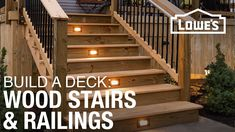 The final part of the deck build is the stairs. Building stairs takes some math and a little know-how. Follow these steps for a safe set of wood deck stairs.