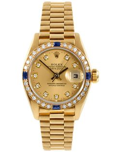 "Rolex 18K Yellow Gold ""Presidential"" Watch With A Factory Diamond Dial & Bezel, 26mm by Rolex at Gilt"
