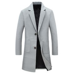 39.18$  Watch here - http://dizs6.justgood.pw/go.php?t=199077104 - Button Pocket Lapel Woolen Coat