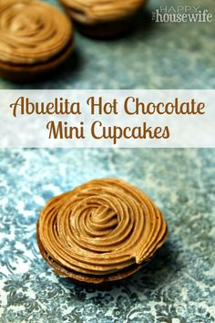 Hot cocoa and cupcakes! What a perfect combination of spicy, sweet, and yum!   The Happy Housewife