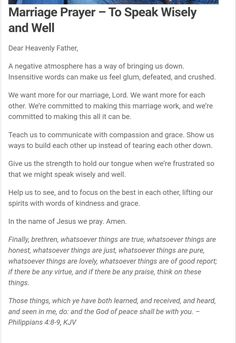 Prayer For My Marriage, Relationship Prayer, Prayer For Love, Godly Marriage, Marriage Goals, Marriage Life, Happy Marriage, Marriage Advice, Love And Marriage