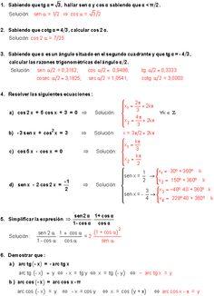 Ejercicios de limites trigonometricos resueltos