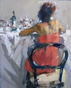 """Backs"" Maggie Siner 16x20 inches oil on linen #abstract #finedining #pug…"