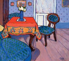 Béla Kádár - Inside the Front Room 1910