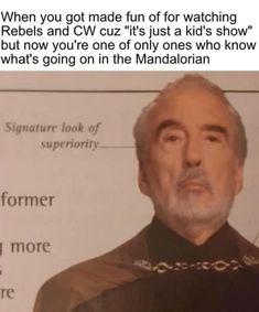 Star Wars Trivia, Star Wars Jokes, Star Wars Facts, Star Wars Rebels, Star Wars Clone Wars, The Mentalist, Top Memes, Funny Memes, Funny Pics