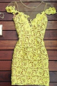 Sexy Scoop Neck Short Sleeve Mesh Splicing Lace Dress For Women Club Dresses | RoseGal.com Mobile