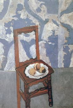 Chair with Peaches  Private Collection 130 x 89 cm. 1919