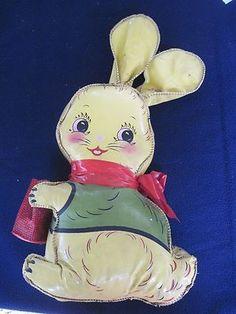 Very Old Vinyl Stuffed Rabbit Toy