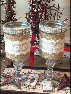 Redneck mason jars Great for weddings
