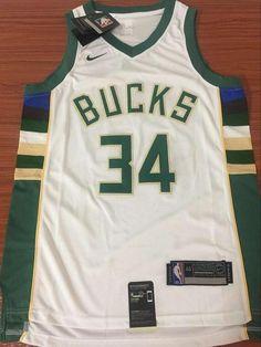 2415aad3bd7a Men 34 Giannis Antetokounmpo Jersey White Green Milwaukee Bucks Fanatics