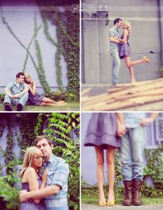 An Engagement Session with Purple Walls + Doughnuts