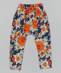 Leighton Alexander  Blue Floral Harem Pants - Infant, Toddler & Girls