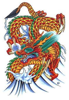 .Tatsu. Whereas Chinese dragons have five toes, Japanese ones have three.