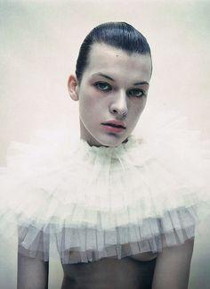 Milla Jovovich by Mario Sorrenti for i-D magazine February 1996