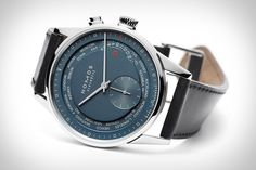 Travel the world in the push of a button with the Zurich Worldtimer Watch from Nomos. The latest ultra-sophisticated timepiece from the German watchmaker comes with a stainless steel case, galvanized blue dial, rhodium-plated hands, and their first automatic movement...