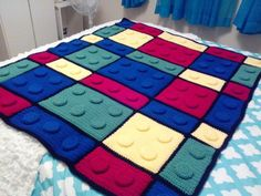 Lego Crochet Blanket Pattern And Youtube Video | The WHOot