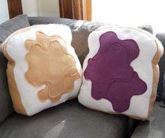 Peanut Butter Jelly Pillows