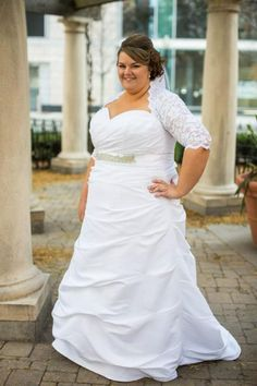 Brides of all shapes and sizes can have #plussizeweddingdresses perfect for them made to order (no matter where you live) by our firm.  Replicas of couture goswn can also be made for those brides who can not afford the original design.  Get pricing and details at www.dariuscor