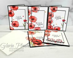 Painted Poppies Sneak Peek I have a box full of goodies from the new and upcoming 2020 Mini catalog and Sale-A-Bration I was itching to break open and create. I had my team meeting last Saturday, December and we used the Painted Poppies Bundle, so I d Card Making Tips, Making Ideas, Stampin Up, Winter Karten, Poppy Cards, Fleurs Diy, Karten Diy, Stamping Up Cards, Stamp Making