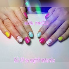 Unghii cu gel UV neon nails Gel Uv, Gel Nails, Neon, Nail Gel, Neon Tetra, Gel Nail