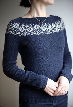 Crochet Patterns Sweter The pattern I picked for this garment is from the book Ornaments and Patterns fo… Fair Isle Knitting Patterns, Sweater Knitting Patterns, Knitting Yarn, Knit Patterns, Free Knitting, Textile Patterns, Crochet Pullover Pattern, Cardigan Pattern, Knit Crochet