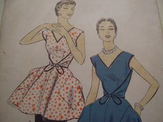 Vintage 1950's Advance 6918 Wrap Apron Dress by TheLastPixie, $18.50