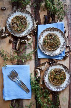 Wild mushrooms, Sauerkraut and Vegan dumplings on Pinterest