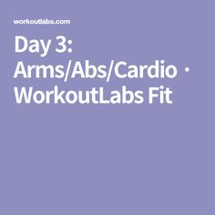 Day 3: Arms/Abs/Cardio · WorkoutLabs Fit