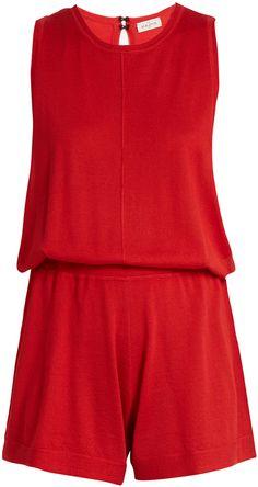 LE KASHA Mumbai sleeveless cashmere playsuit  #affiliate