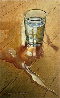 Pintura contemporânea hiper-realista de Manfred W. Juergens