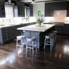 61 Best Flooring Images Kitchen Remodel Dark Cabinets
