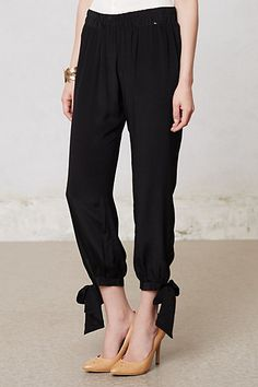 Anthropologie Astri Crepe Cropped Pants
